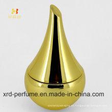 Botella de perfume de cristal del trabajo del arte del color oro