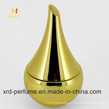 Frasco de perfume de vidro do trabalho de arte da cor do ouro