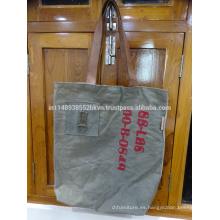 La bolsa de asas larga gris