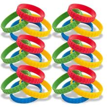 Novo bloco de construção pulseiras elásticas coloridas de borracha