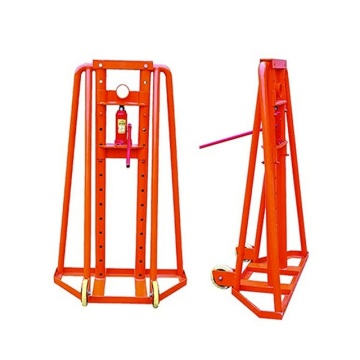 5-8 Ton Hydraulic cable drum lifting jack cable reel stand