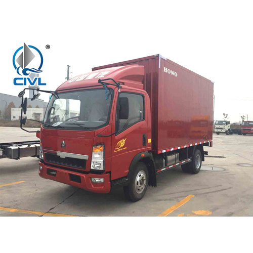 Camion fourgon de couleur rouge 4.2m 109hp