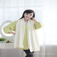 Cinza Adulto malha acrílico ou lã / algodão Scarf Fabricantes
