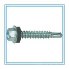 A flange de DIN7504k encanta o parafuso da perfuração do auto da cabeça com o zinco chapeado