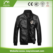 Windproof Outdoor Man PU Winter Jacket