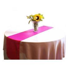 Fuchsia Navidad elegante barato Satin mesa corredor