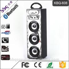 BBQ 15W 1200mAh Akku 2016 Newst Holz tragbare Kinder Karaoke Bluetooth Lautsprecher im Freien