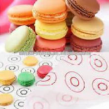 Großhandels-kundenspezifische Druck-Silikon-Macaron-Backen-Matten-Silikon-Macaron-Matte