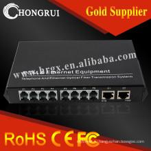 8 канал передачи 20км RJ11 и GSM в аналоговую телефонную линию преобразователь