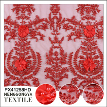 China Wholesale handwork beaded sequin applique mesh embroidery fabric