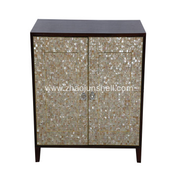 CANOSA golden mother of pearl inlaid wooden furniturn Storage Cabinet
