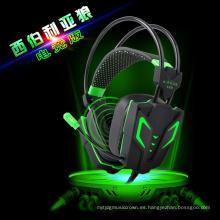 Auricular del juego de la vibración del LED de la reducción del ruido atado con alambre para el videojugador (K-13)