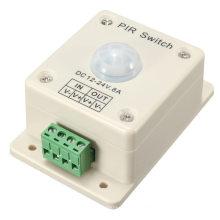 Nouvelle Arrivée DC12-24V 8A Infrarouge PIR Commutateur Motion Sensor Auto ON / OFF Pour LED Éclairage Lumière Facile à installer