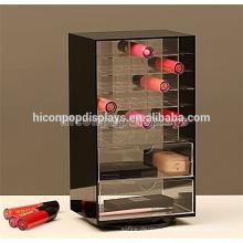 Lipstick Wholesale Merchandising Supply Custom Rotating 2-Way Acrylic Cosmetic Shop Equipment For Sale