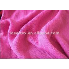 Metallic yarn Crepe chiffon for Lady Dress