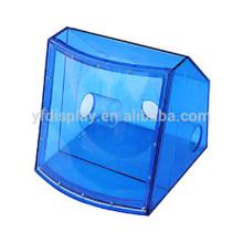 translucent blue color acrylic professional loudspeaker box