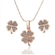 Four Leaf Clover 925 Silver Jewelry Set for Gift