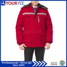 Workwear baratos inverno uniforme de trabalho quente com fita reflexiva (ymu122)
