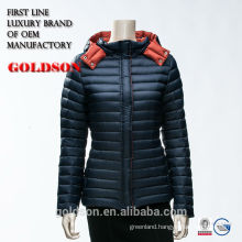 2017 European Classic Slim Fit Coat Type Hoody Dark Short Warm Winter Down Jacket Women with Hood