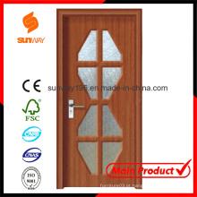 Novo design de PVC porta de madeira com Windows