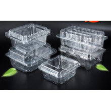Pet Clear Plastic Compartment Take Away Salad Food Container Tray 5