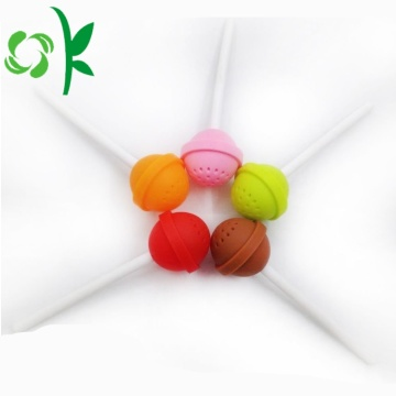 Warna-warni Lollipop Desain Silicone Tea Bag Spice Infuser