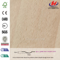 JHK-F01 Good Quality Flat Red Sapelli Natural Deep Mold HDF Simple Door Skin Factory