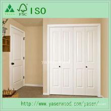 Porta interior composta de madeira aprontada branca