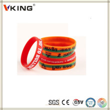 Popular atacado pulseiras elásticas personalizadas