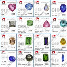 Großhandel Luxus Point Back Crystal Fantastischen Stein für Schmuck machen