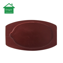 Cast Iron Sizzling Plate with Wooden Server