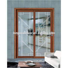 Portes coulissantes en verre et fenêtres en aluminium de style français