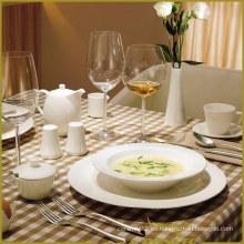 Serie blanca de la abolladura del envejecimiento del sistema de cena de la porcelana 13PCS