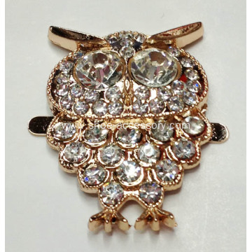 Owl Metal Shoe Buckle, Shoe Ornaments, Shoe Accessories