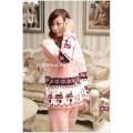 Coralliennes Fleece homewear pour femmes ouatine de corail hôtel peignoirs de bain pour femmes