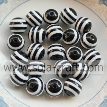 Lovely Charm Black Stripe 8MM 500Pcs Shamballa African Wedding Decorative Curtains Resin Wholesale Swarovski Nigeria Crystal Bea