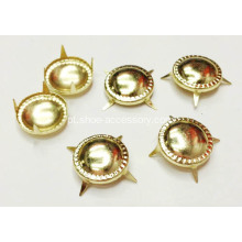 13mm Nailheads convexo, Brads Metal ouro