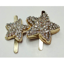 Two Stars Metal Buckle with Rhinestone for Kid's Shoes