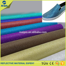 Glitter pu leather for making shoes, handbags