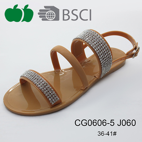 high quality lady jelly sandals