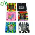 Couleur de mélange cool Silicone Cendrier Food Grade Case