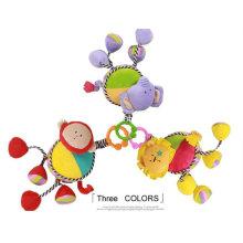 Fábrica de suministros de bebé de peluche relleno Movimiento musical tirón de juguete