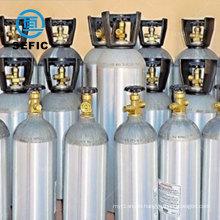 QF-5 valve beverage drinking co2 aluminum gas cylinder/tank/bottle
