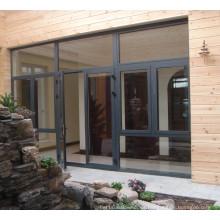 latest Design Factory Price Pattern Glass Aluminum Alloy Door