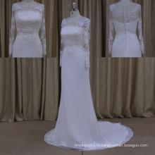 2015 Оптовая Продажа V-Образным Вырезом Спинки Свадебные Платья Китай Шифон
