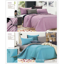 Sale 100% cotton colorful Knitted cotton bedding set