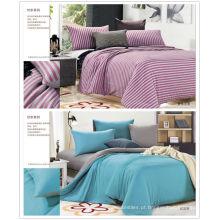 Venda 100% algodão colorido malha de algodão conjunto de cama