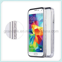 Caso de parachoques de aluminio de cristal Bling Diamante para Samsung Galaxy S5