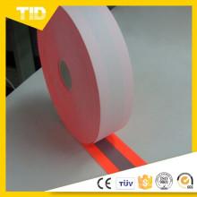 100% de algodão de apoio Fluo laranja Chama Retardante Aviso tecido Reflexivo usado para roupas de segurança