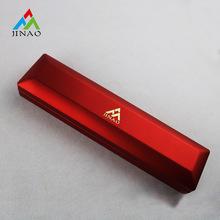 Caja de pulsera de plástico rojo lacado con luz LED